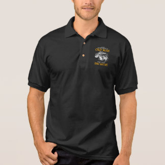 Drag Racing - Never Underestimate An Old Man Polo Shirt