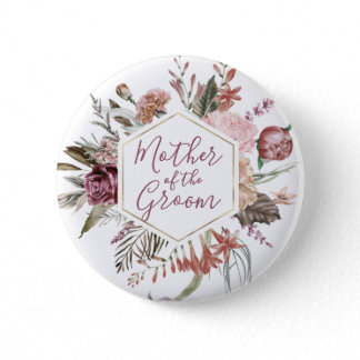 Dusty Rose Mother of the Groom Button
