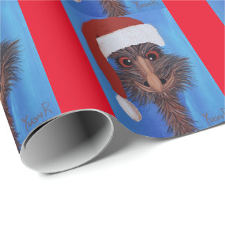 ED Emu Christmas Wrapping Paper