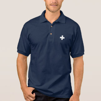 Editable background Color, The Flag of Switzerland Polo Shirt