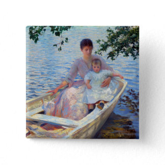 Edmund Charles Tarbell Mother and Child in a Boat. Button