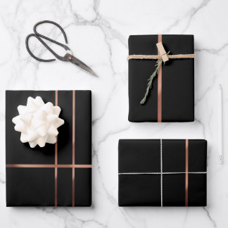 Elegant Rose gold stripes Wrapping Pape Wrapping Paper Sheets