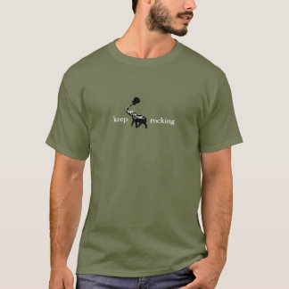 elephant with rock guitar in his trunk, rocki T-Shirt