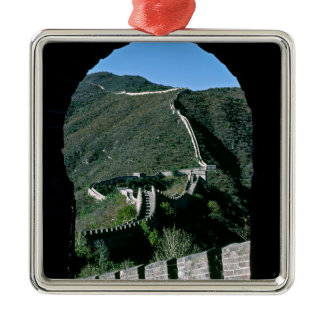 Famous Great Wall of China - Beijing, Asia Metal Ornament