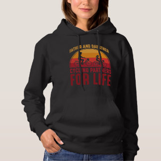 Father and Daughter Cycling Partners for Life Hoodie
