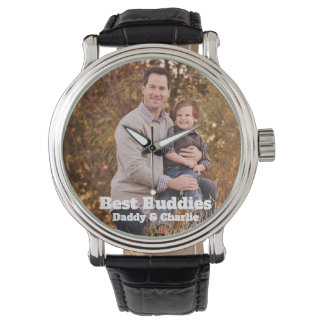 Fathers Day Best Buddies Daddy and Child Photo Watch