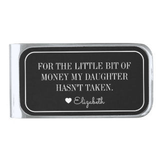 Father's Day Money Clip Gift From Daughter