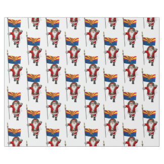 Festive Father Christmas Visiting Arizona Wrapping Paper