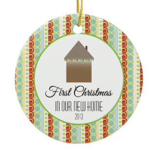 First Christmas in our new home multi-colored Ceramic Ornament