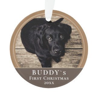 First Christmas Puppy Pet Photo Ornament