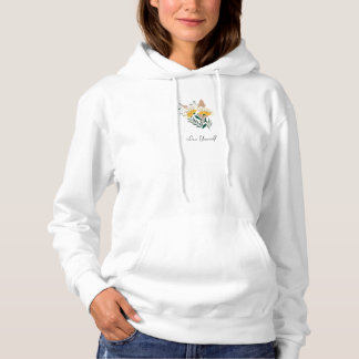 Floral Love Yourself Typography Hoodie