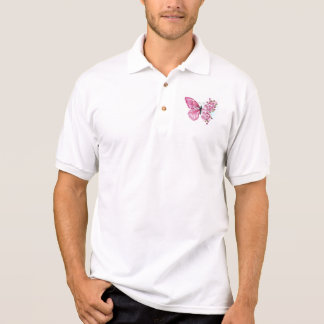 Flower Butterfly with Pink Sakura Polo Shirt