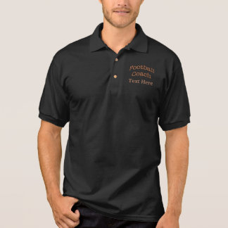 Football Coach Polo Shirts with his NAME or TEXT