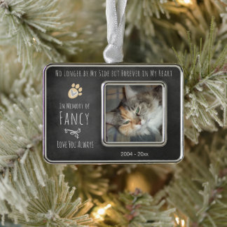 Forever in My Heart Chalkboard Pet Photo Christmas Ornament