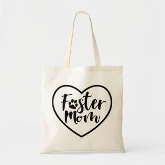 Foster Dog Mom Heart Tote Bag