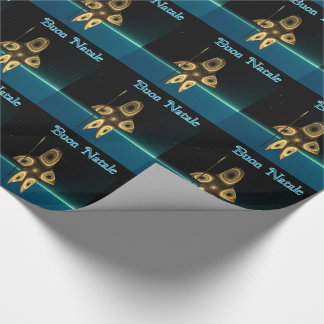 Fractal Inuit Hunter - Buon Natale Wrapping Paper