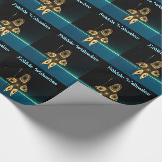 Fractal Inuit Hunter - Frohliche Weihnachten Wrapping Paper