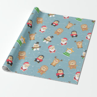 French Bulldog Christmas Pattern Wrapping Paper