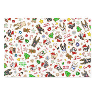 French Bulldog Wrapping Paper - Christmas Cookies