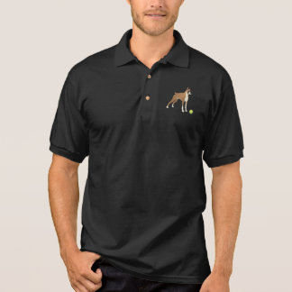 Friendly Boxer with Green Ball Polo Shirt