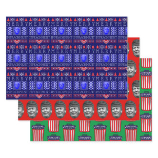 Funny Anti-Trump Holiday Wrapping Paper Sheets