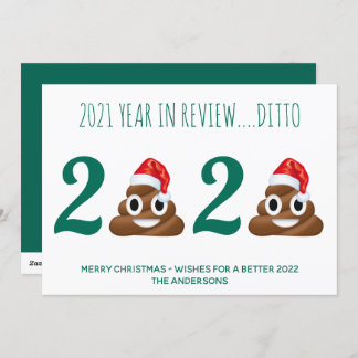 Funny Covid Christmas Pandemic Poop Year in Review Holiday Card