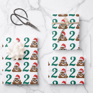 Funny Covid Christmas Poop Pandemic Quarantine Wrapping Paper Sheets