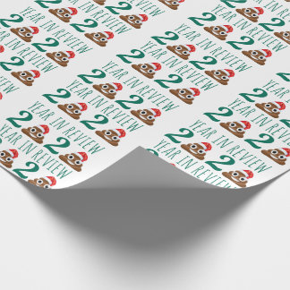 Funny Covid Christmas Poop Year Review Quarantine Wrapping Paper