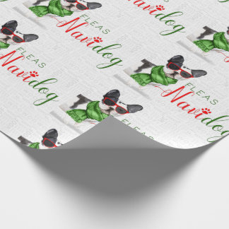 Funny Dog Lover Christmas Boston Terrier Wrapping Paper