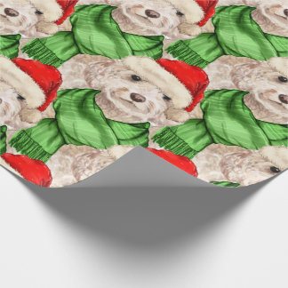 Funny Dog Lover Christmas Champagne Cockapoo Wrapp Wrapping Paper