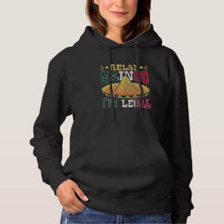 Funny Legal Mexican American Citizen Mexico Humor Hoodie