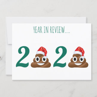 Funny Pandemic Covid Christmas Poop Year in Review Holiday Card
