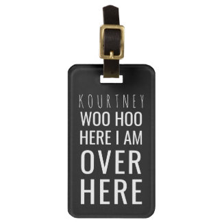 Funny Personalized Bag Attention | Humor Black Luggage Tag