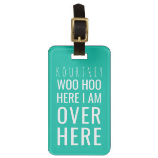 Funny Personalized Bag Attention | Humor Green Luggage Tag
