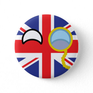 Funny Trending Geeky United Kingdom Countryball Button