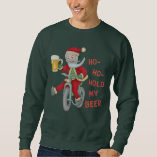 Funny Ugly Christmas Sweater   Santa Hold My Beer