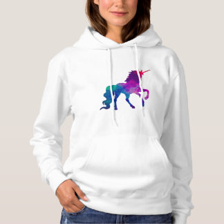 Galaxy Unicorn in Sky Colors of Blue and Purple, Z Hoodie