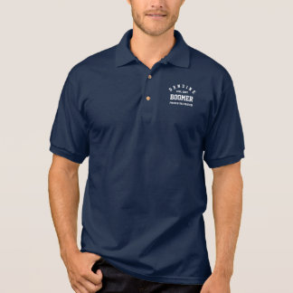 Genuine Baby Boomer, Proud & Vaccinated Polo Shirt