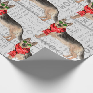 German Shepherd Christmas for Dog Lovers Wrapping Paper