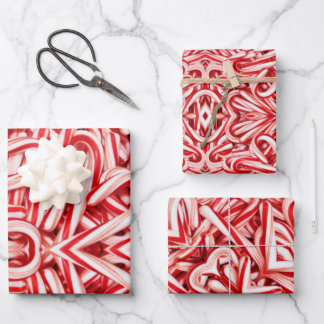 Gift Wrap Paper Candy Canes
