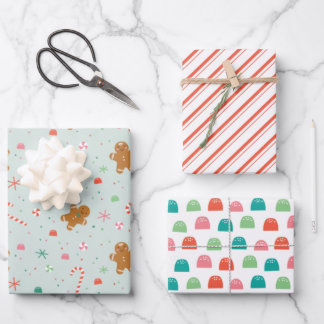 Gingerbread Gumdrop holiday wrapping paper