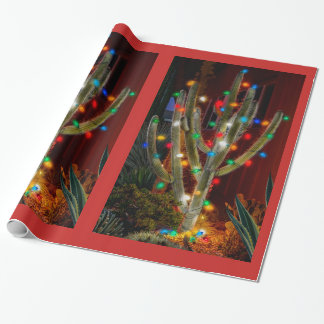 Glowing Cactus Wrapping Paper