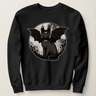 Gothic Cat with wings Sweatshirt