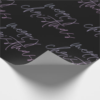 Gradient Merry Christmas | Beautiful Onyx Elegant Wrapping Paper