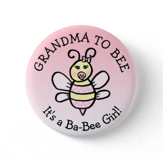 Grandma to Be Honey Bee Themed Baby Shower Button