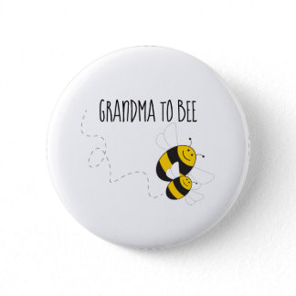 Grandma to bee button for bumblebee baby shower