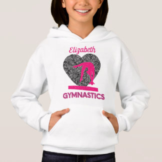 Gymnastics Queen of the Beam and Hearts  Hoodie