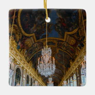 Hall of Mirrors in the Chateau de Versailles Ceramic Ornament