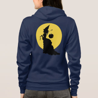 Halloween Vintage Cool Victorian Witch Silhouette Hoodie