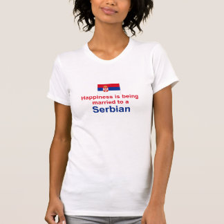 Happily Married To A Serbian Gifts T-Shirt
